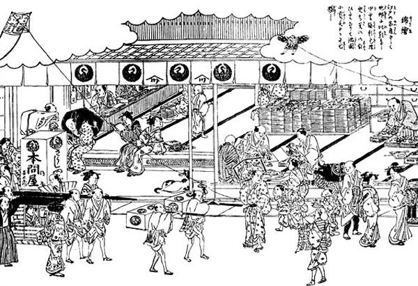 図2-1-1:錦絵『江戸名所図会』