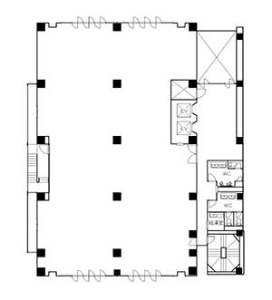 図2-3-2:オフィスビル基準階