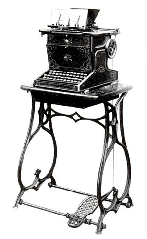 図6-1-14:ショールズ&グリデン・タイプライター