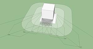 図8-1-1:日影モデル
