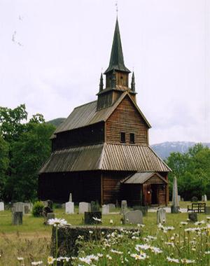 図4-7-3:北欧の木造教会