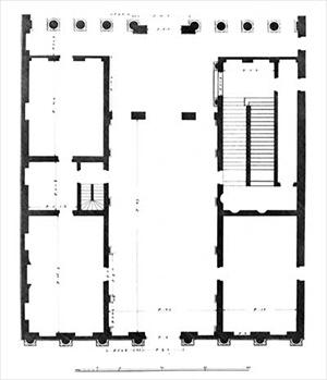 図4-8-6:Plan Palais Thiene Bonin Longare