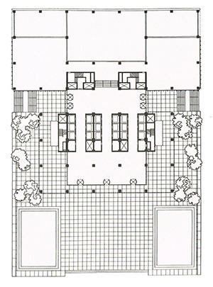 図4-9-2:シーグラムビル平面図