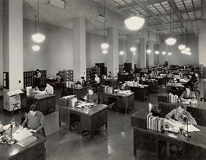 図4-12-2:1937年アメリカのオフィス