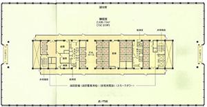 図3-4-6:霞ヶ関ビル平面図