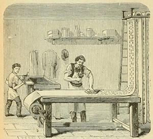 図5-6-4:木ブロック印刷