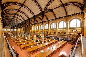 図5-7-11:サント・ジュヌヴィエーヴ図書館内観
